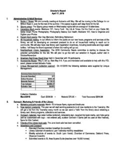 march 27 2018 board meeting minutes doc lyon township public library